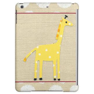 Yellow Giraffe with White Polka Dots