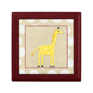 Yellow Giraffe with White Polka Dots Gift Box