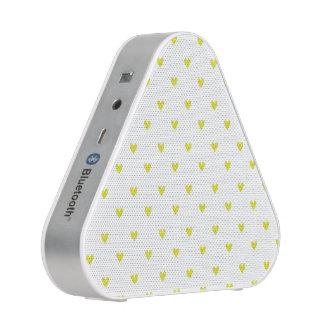 Yellow Glitter Hearts Pattern Speaker