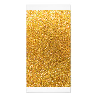 Yellow glitter picture card