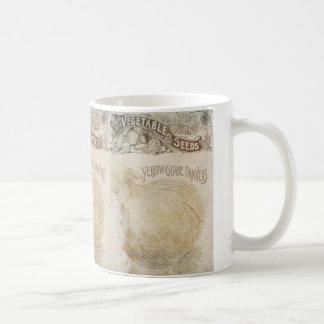 Yellow Globe Danvers Vegetable Seeds Vintage Coffee Mug