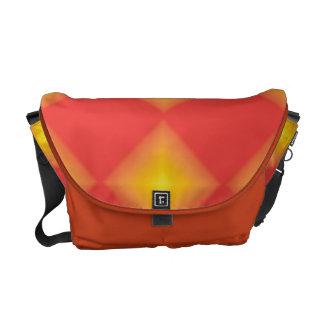 Yellow Glowing Diamond Pattern Messenger Bag