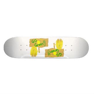 Yellow go green skate board decks