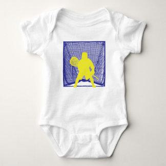 Yellow Goalie Blue Goal.ai Baby Bodysuit