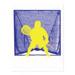 Yellow Goalie Blue Goal.ai Postcard