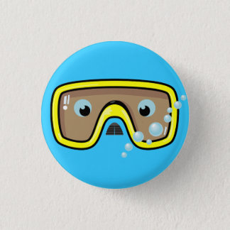 Yellow Goggles 3 Cm Round Badge
