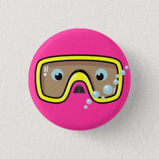 Yellow Goggles 3 Cm Round Badge