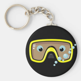 Yellow Goggles Basic Round Button Key Ring
