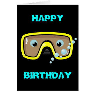 Yellow Goggles Greeting Card