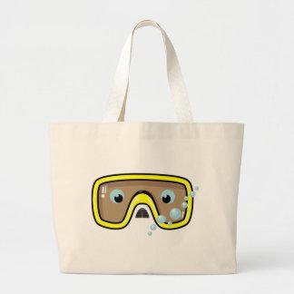 Yellow Goggles Jumbo Tote Bag