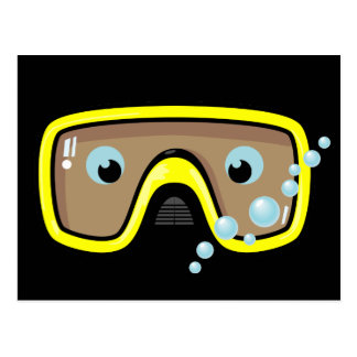 Yellow Goggles Postcard