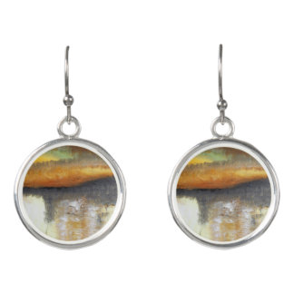 Yellow Gold Abstract Drop Earrings