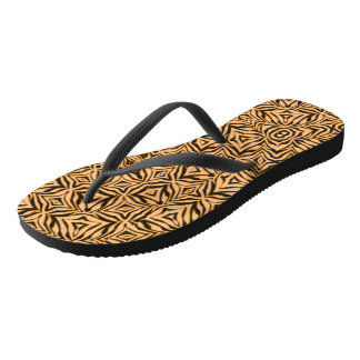 Yellow Gold Abstract Flip Flops