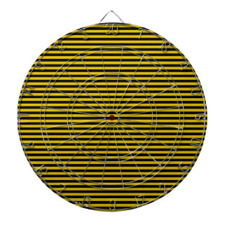 Yellow Gold and Black Striped Dartboard
