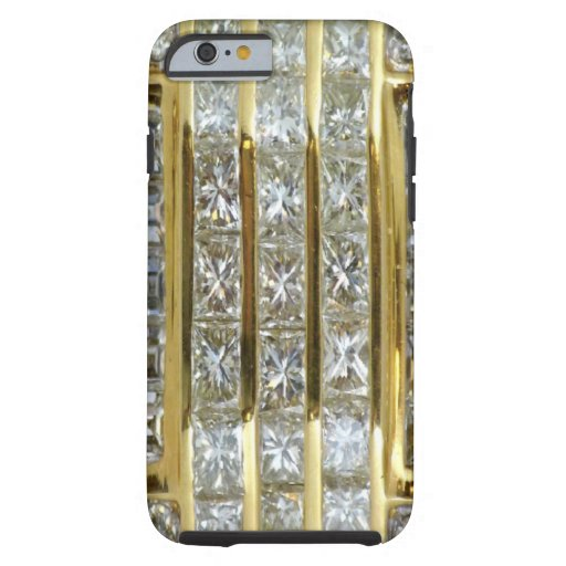 Yellow Gold and Diamond Art iPhone 6 case
