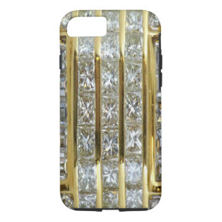 Yellow Gold and Diamond Art iPhone 7 case