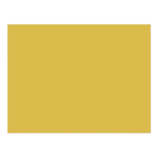 Yellow Gold Background Colour Template Postcard