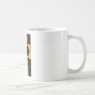 Yellow Gold Black Cross Basic White Mug