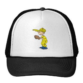 yellow & gold boy ball player trucker hats