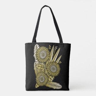 Yellow Gold Gerbera Daisy Flower Bouquet Tote Bag
