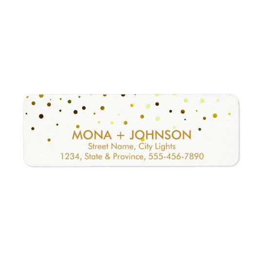 Yellow Gold Glitter Sparkle Confetti Dots Modern