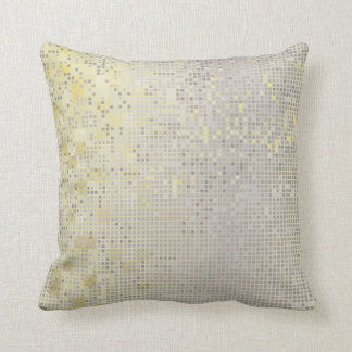 Yellow Gold Gray Silver Cyber Numeric IT- DESIGN Cushion