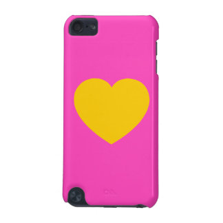 Yellow Gold Heart iPod Touch 5G Cover