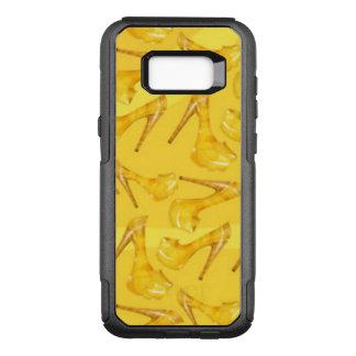 Yellow Gold High Heels Pattern Design OtterBox Commuter Samsung Galaxy S8+ Case
