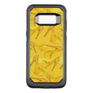 Yellow Gold High Heels Pattern Design OtterBox Commuter Samsung Galaxy S8 Case