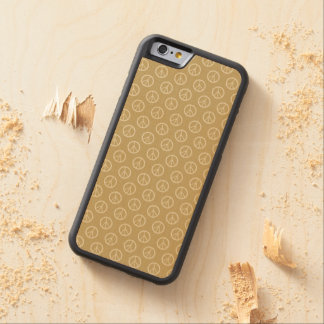 Yellow Gold Peace Signs Carved® Maple iPhone 6 Bumper Case