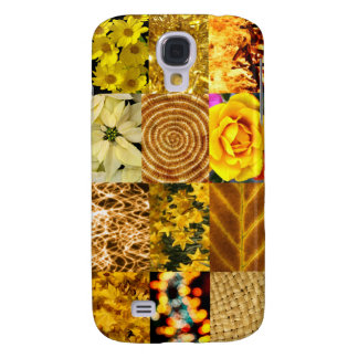 Yellow Gold Photos Collage Samsung Galaxy S4 Cover