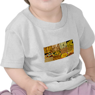 Yellow Gold Photos Collage Shirts