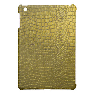 Yellow Gold Snake Leather Look iPad Mini Cover