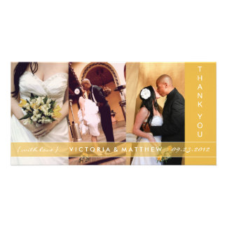 YELLOW GOLD UNION | WEDDING THANK YOU CARD PICTURE CARD
