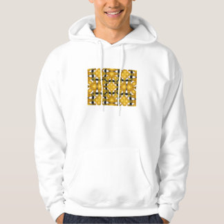 Yellow Gold Vase Flower Floral Etched Black White Hoodie