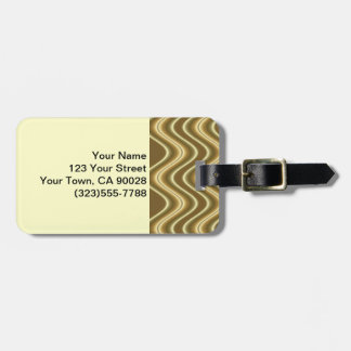 yellow gold wave abstract tags for bags