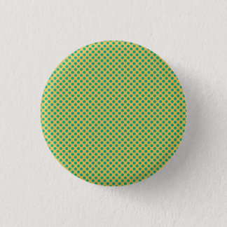 Yellow Gold with Emerald Green Polka Dots STaylor 3 Cm Round Badge