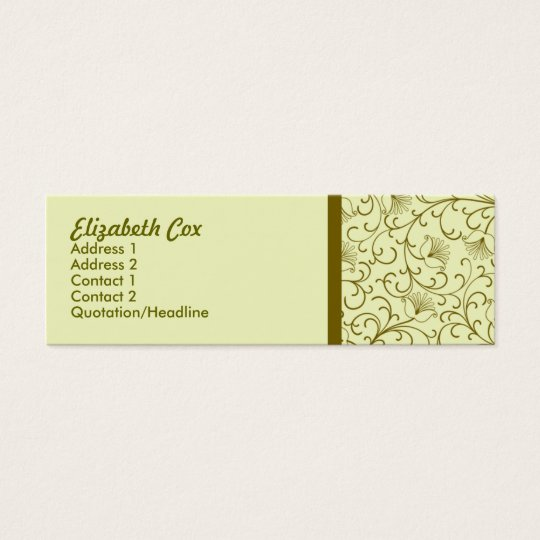 Yellow Golden Mini Business Card