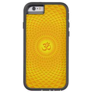 Yellow Golden Sun Lotus flower meditation wheel OM Tough Xtreme iPhone 6 Case
