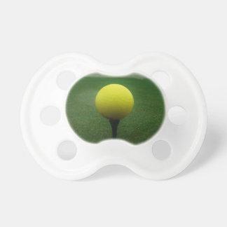 Yellow Golf Ball on a mountain golf course Baby Pacifier