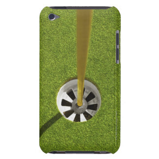 Yellow golf flag pole and hole barely there iPod cover