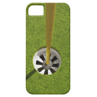 Yellow golf flag pole and hole iPhone 5 case