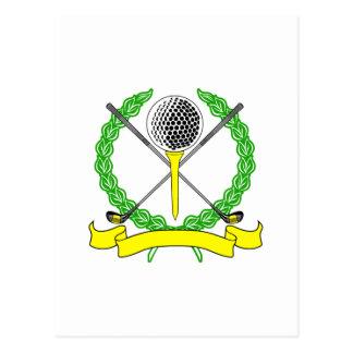 Yellow Golf Logo Postcard