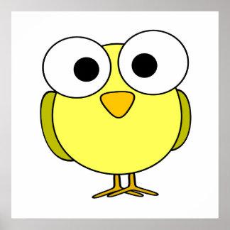 Yellow Googly Eye Bird Print