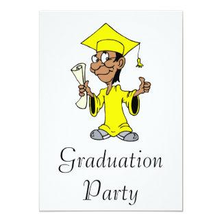 Yellow Grad Personalized Invite
