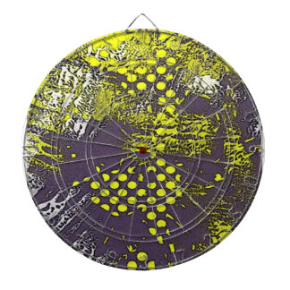 Yellow Graffiti Abstract Dart Boards
