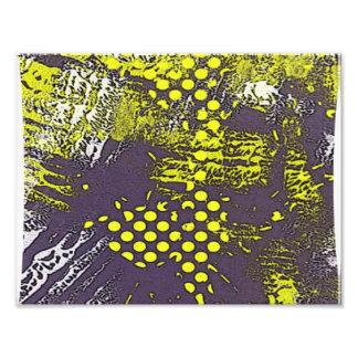 Yellow Graffiti Abstract Photograph