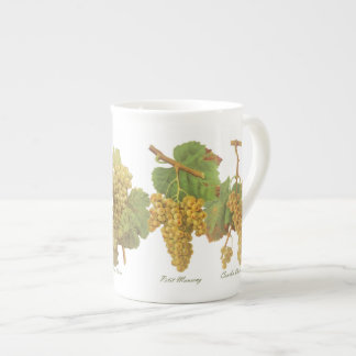 Yellow Grapes Bone China Mug (You can customize)