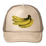 Yellow Graphic Banana Hats