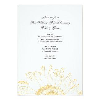 Yellow Graphic Sunflower Post Wedding Brunch 13 Cm X 18 Cm Invitation Card